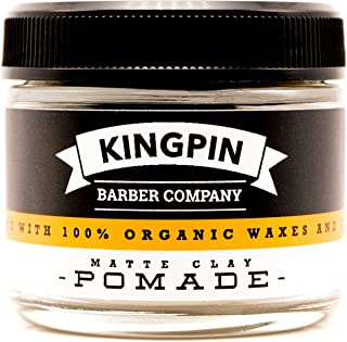 Sponsored Ad - Matte Clay by KINGPIN. Organic clay pomade for men. Medium hold/low shine. (Travel 2.2oz)