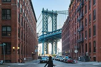 Manhattan Bridge Between Apartment Buildings Photo Photograph Cool Wall Decor Art Print Poster 36x24