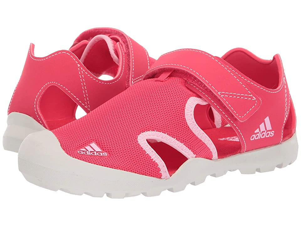 Image of adidas Outdoor Kids Captain Toey (Toddler/Little Kid/Big Kid) (Active Pink/True Pink/Raw White) Girls Shoes