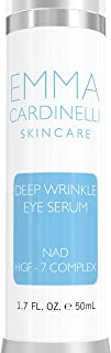 Eye Serum for Anti Aging, Deep Wrinkles- Eye Wrinkle Serum with NAD, Hyaluronic Acid and HGF-7 Complex to Help Brighten, Tighten, Hydrate and Rejuvenate Your Complexion