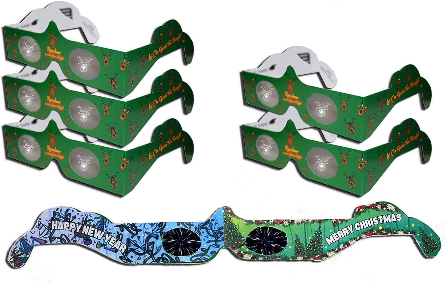 HolidayEyes R Bargain sale Christmas Award 3D 6 Reindeer Glasses