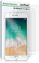 amFilm iPhone 8 7 6S 6 Screen Protector, Premium Anti-Glare/Anti-Fingerprint Screen Protector for iPhone 8 7 6/6S 4.7 inch (NOT Glass) ATT Verizon T-Mobile Sprint (3-Pack)