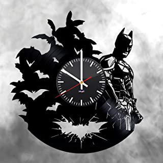 Ma Va Batman Emblem Vinyl Record Wall Clock Gift for Fans Great Idea Home Decor DC Comics Vintage Decoration - Buy Gift for Everybody