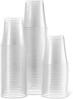 [300 Pack] Settings 5 Oz Clear Disposable Plastic Drinking Cups Great For Juice, Water, Soda, Beer, Use At Party, Home, Office, Picnic, BBQ, Or Event, 3 Packs Of 100