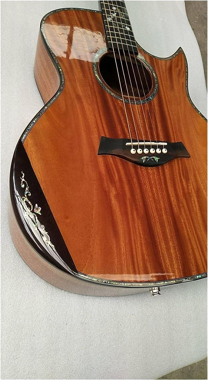 Guitarra Toda la guitarra de madera europea sólida. GEORGIA SingleCut Florentine Armés de Flores 14 Mascotas Cedar sólido Guitarra acústica adecuada para jugadores en todas las etapas. guitarra de mad
