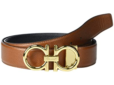Salvatore Ferragamo Adjustable Reversible Belt (Vicuna/Black) Men