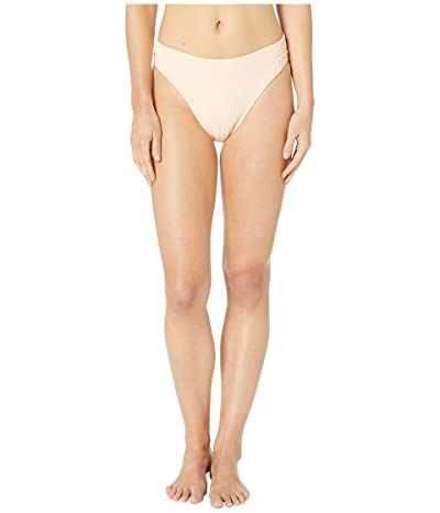 Luli Fama Jagged Bombshell High Leg Banded Waist Bottom (Peachin) Women