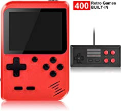 Handheld Game Console, Kiztoys Retro Game Console with 400 Classic Handheld Games, Supporting 2 Players & TV Connection, 8...