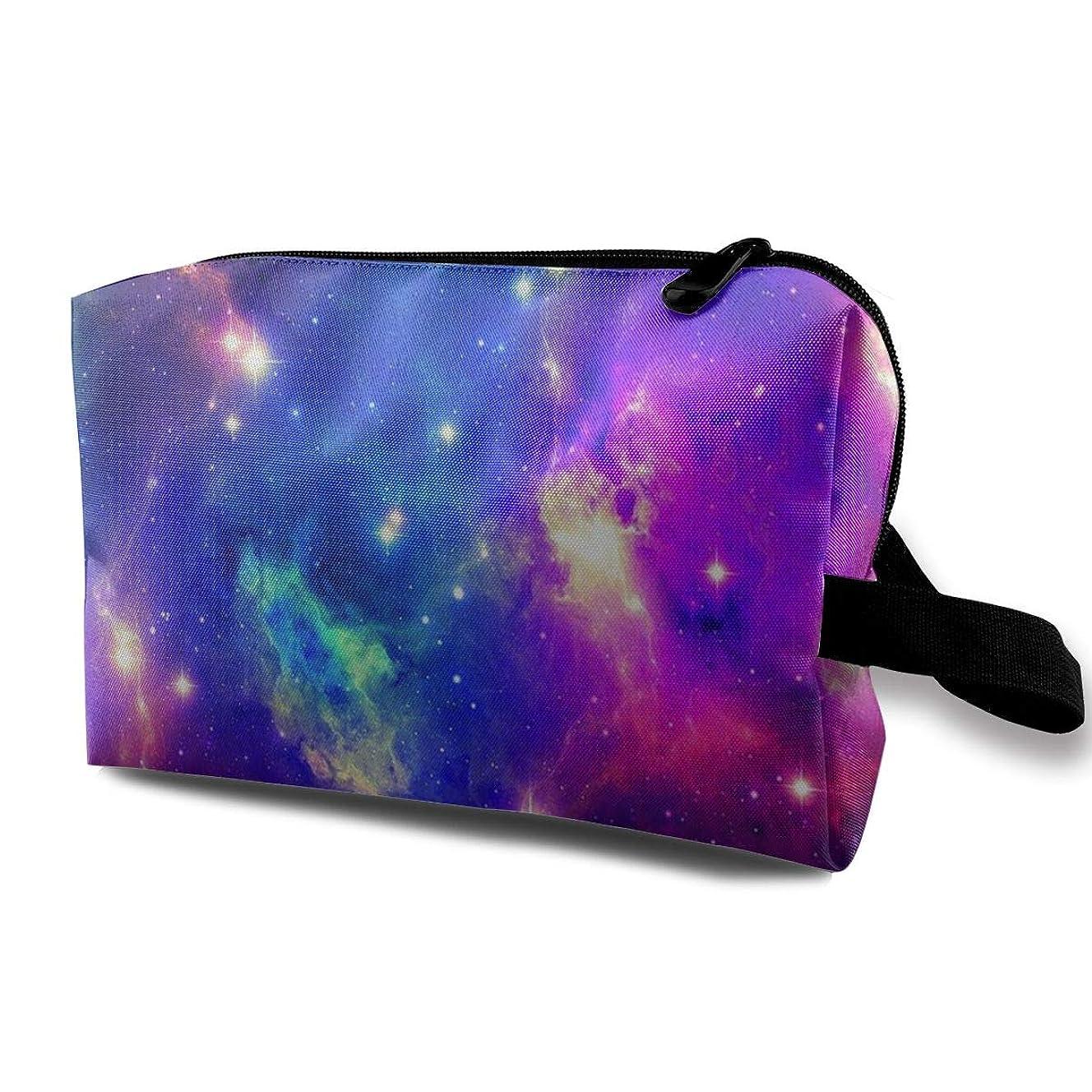 外側操作一緒にSpace Nebula Galaxy 収納ポーチ 化粧ポーチ 大容量 軽量 耐久性 ハンドル付持ち運び便利。入れ 自宅?出張?旅行?アウトドア撮影などに対応。メンズ レディース トラベルグッズ
