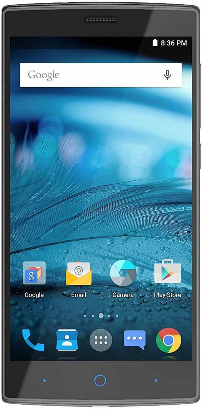 ZTE ZMAX 2 16 GB Z958 AT&T GSM Unlocked 4G LTE 5.5'' IPS LCD 8MP Android Smartphone - Black