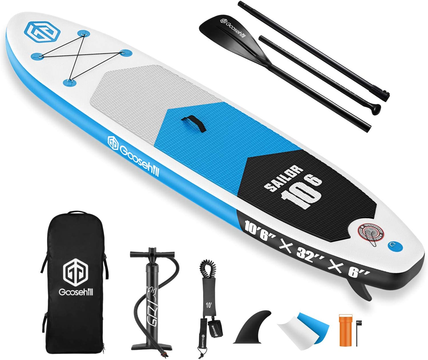 Goosehill Inflatable Stand 5 popular Up Paddle SUP Package Board Ranking TOP16 Premium