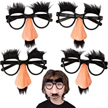Kicko Disguise Glasses with Funny Nose - Eyebrows and Mustache - 12 Pack - for Kids Party Favor, Fun, Fiesta, Costume, Hal...