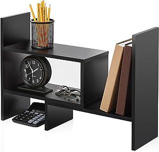 FITUEYES Desk Organizer Stand/Tabletop Bookshelf Display Rack for Home Office & School Adjustable DT306801WB