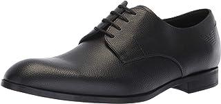 حذاء رجالي من Emporio Armani عليه شعار Penny Loafer موحد اللون أسود، مقاس 8 مقاس المملكة المتحدة (9 الولايات المتحدة)