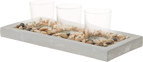 Briarwood Cement Votive Holder Tray Natural
