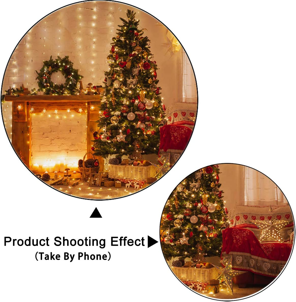 Levoo Christmas Tree Background Banner Photography Studio Birthday Family Party Christmas Day Celebration Photography Backdrop Warm Home Decoration 6x4ft,chy682