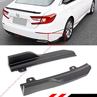Fits for 2018-2019 Honda Accord JDM Rear Bumper Side Corner Spat Valance Apron Splitters