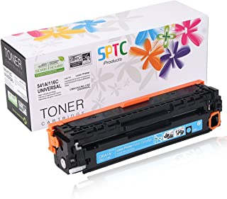SPTC Replacement for HP 125A CB541A Toner Cartridge Compatible with CRG-116 CP1215 CP1210 CP1515N CP1518NI CM1312nfi CM1300 CM1312 MFP HP Color Laserjet Cyan 1,400 Pages High Yield
