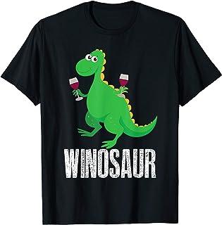 Winosaur Shirt   Funny Wine Drinking Dino T-shirt Present