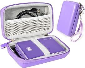 Purple Instant Printer Case for Kodak Mini 2 HD Wireles, Mini Mobile Wi-Fi & NFC Printer, Lifeprint 2x3 Portable Photo and Video Printer, Pickit M2, SereneLife 2x3 Instant Porter Printer