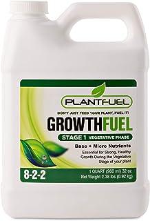 مواد مغذی سوخت گیاهی | سوخت رشد | کود مایع فوق العاده برتر برای خاک ، هیدروپونیک و سایر محیط های رشد. به طور خاص برای مرحله رشد رویشی گیاه شما تهیه شده است. (اندازه کوارت)