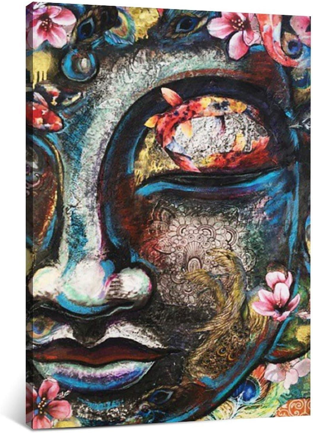 Koi Fish Peacock Feather Buddha online shop Art Canvas Custom w Ranking TOP18 Print Prints