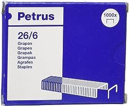 Pavo 8042999-Pinzatrice da ufficio confezione da 5000 placcati zinco punti metallici 24//6 MM