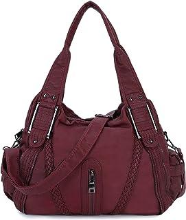Bolsos de Mujer Bandolera,Bolso Señora Multi-Bolsillo Cuero PU Bolso Shopper Crossbody Bag Bolsos de Hombro para Casual,Di...