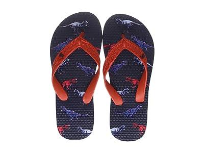 Joules Kids Flip-Flop (Toddler/Little Kid/Big Kid) (Navy Dinos) Boys Shoes