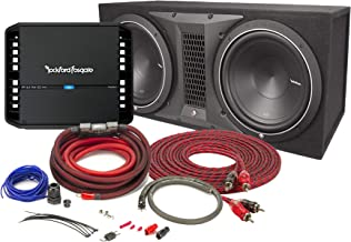 Rockford Fosgate Punch P300X1 Mono subwoofer Amplifier with Punch P1 ported Enclosure with 12
