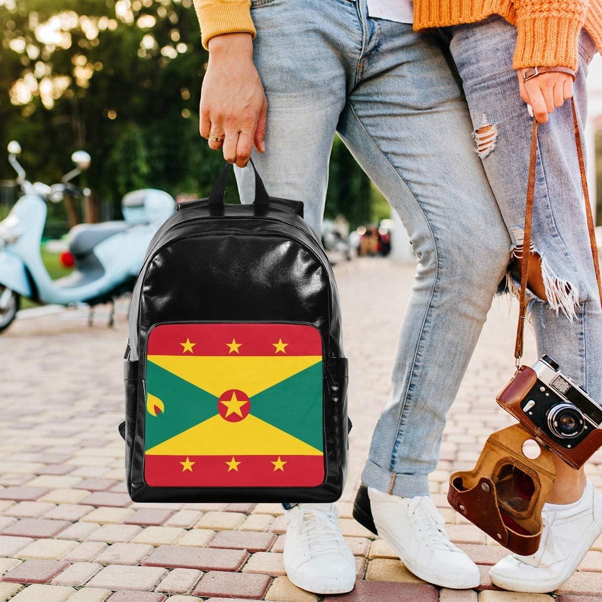Solid 17.5 Inch Backpacks Stylish Waterproof Reflective Canvas Travel Laptop Backpack School Bookbag Guyana Flag