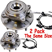 Front Wheel Bearing & Hub Assembly Fit 2013 2014 2015 2016 2017 2018 Ram 3500,2014-2018 Ram 2500 Hub Bearing(2 Pack)8 Lugs w/ABS, Replace 515162