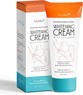 Whitening Cream for Armpits, Intimate Parts, Between Legs – with Collagen –..