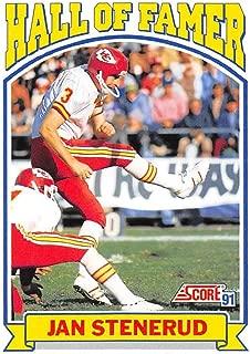 1991 Score Football #670 Jan Stenerud Kansas City Chiefs Official NFL Trading Card