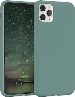 EAZY CASE Premium Silikon Handyhülle kompatibel mit Apple iPhone 11 Pro Max, Slimcover mit Kameraschutz und Innenfutter, Silikonhülle, Schutzhülle, Bumper, Handy Case, Hülle, Softcase, Grün