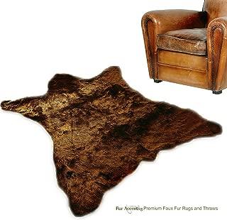 Fur Accents Faux Bear Skin Rug Faux Fur (5'x8', Grizzly Bear Brown)