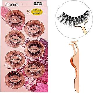 7 Pairs 3D False Lashes Different Styles Fake Eyelashes Invisible Band Natural Long Thick Black Eyelash Full Strip Reusable