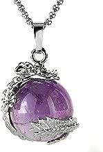 JewelrieShop Dragon Necklace Chakra Reiki Healing Crystal Pendant Gemstone Necklace for Women Men
