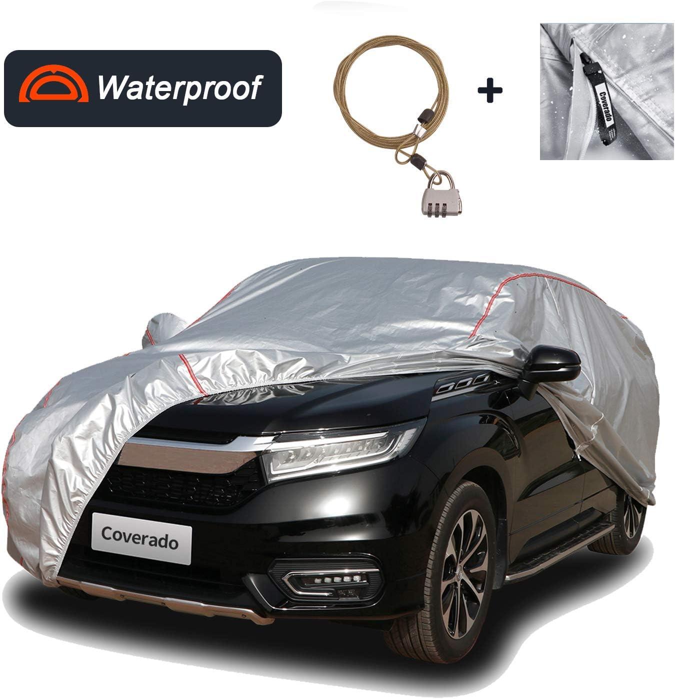 Coverado Deluxe Car Cover with Buid-in Door Storage Max 87% OFF W Alternative dealer Bag Zipper
