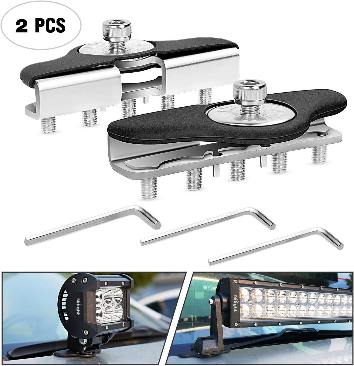 Details about  /Nilight 90023B 2-Pack Mounting Bracket Kit Led Off-Road Light Vertica Standard