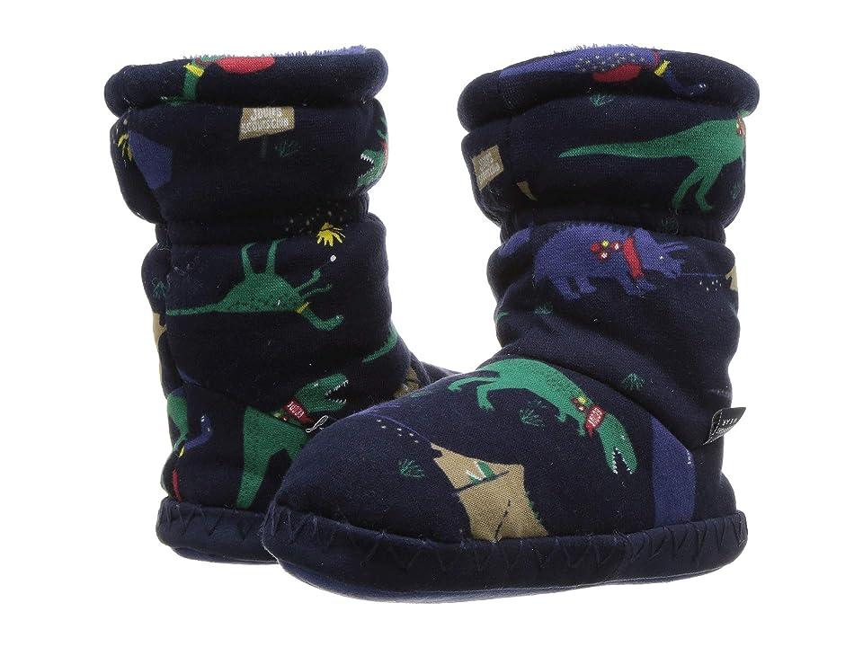 Joules Kids Fleece Lined Slippersock (Toddler/Little Kid/Big Kid) (French Navy Dinosaur) Boys Shoes