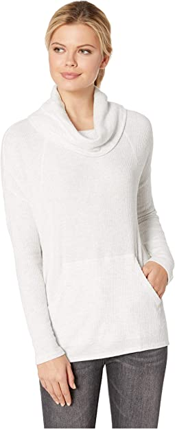 Easy Cowl Neck Top in Brushed Rib