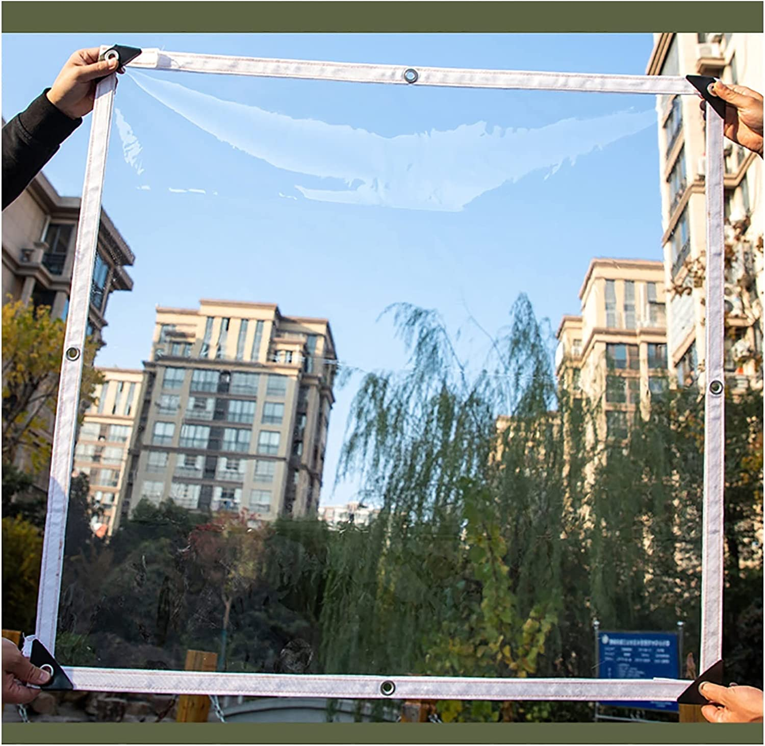 AGLZWY Transparent Tarp Outdoor Canopy Multi-Functiona Emergency NEW At the price of surprise