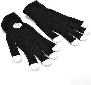 NEO+ Zauberhafte 7-Mode Colorful LED Handschuhe Rave Licht Finger Beleuchtung Blinkende Handschuhe Unisex Handschuhe – EIN Paar