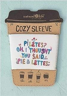 Natural Life Coffee Tea Soda Frap Cup lowball Wine Glass Cozy Sleeve (Pilates)