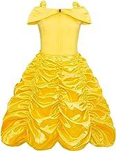 AmzBarley Disfraz de Princesa Belle Vestido de Fiesta Cosplay para niñas,Halloween