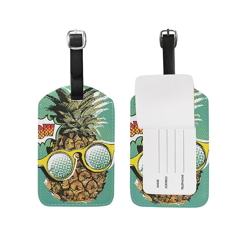 シリンダーペスト世界的にアートパイナップル荷物をトランクラベルリュックサックスーツケース キッズ ジュニアID 旅行用品(2pcs)