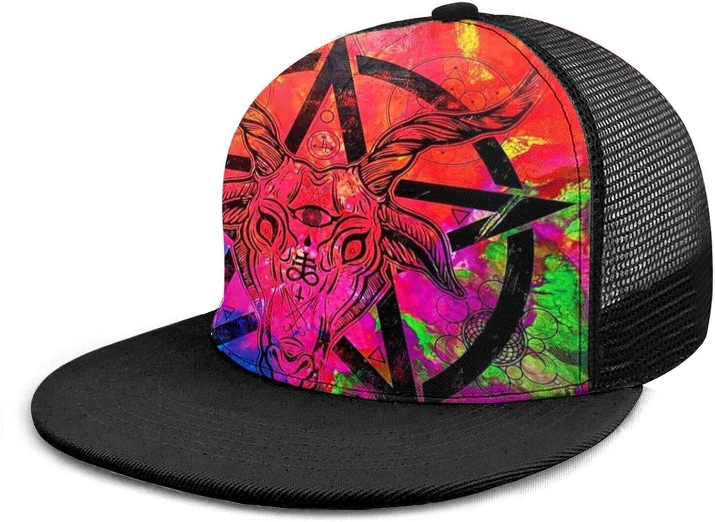 Yonjiq Baseball Cap Adult Unisex 3D Hip Hop Snapback Flat Brim Hat Baseball Caps