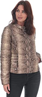 Vero Moda Womens Sorayasiv Snake Print Jacket in Silver Mink.