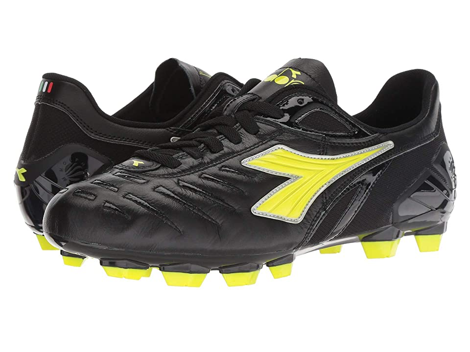 Diadora Maracana 18 (Black/Fluo Yellow) Soccer Shoes